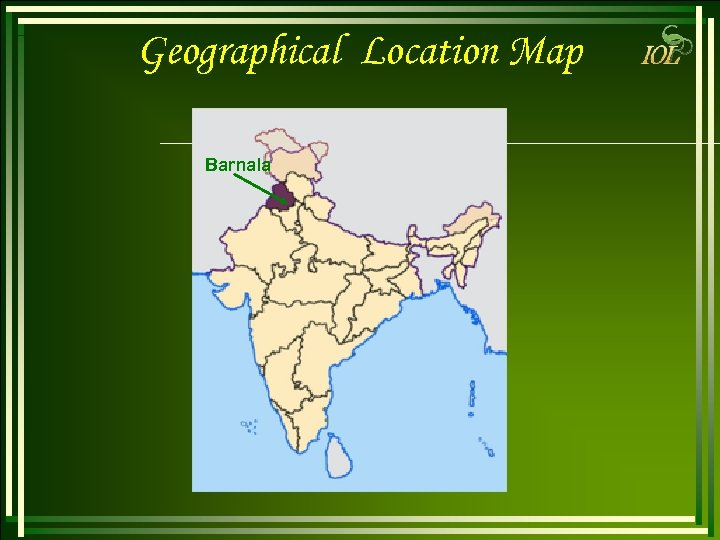 Geographical Location Map Barnala