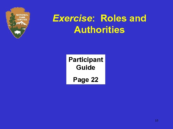 Exercise: Roles and Authorities Participant Guide Page 22 35