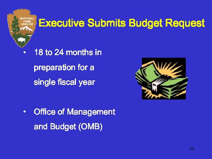 Executive Submits Budget Request • 18 to 24 months in preparation for a single