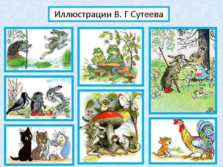 Иллюстрации В. Г Сутеева