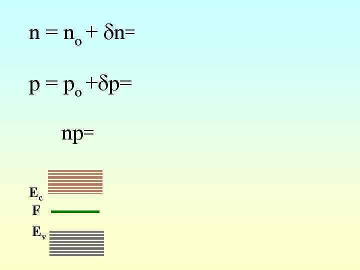 n = no + n= Nc(эфф) exp( ) + p= N (эфф) exp( )