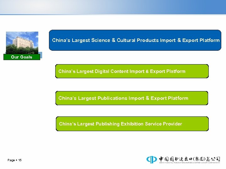 China's Largest Science & Cultural Products Import & Export Platform Our Goals China's Largest