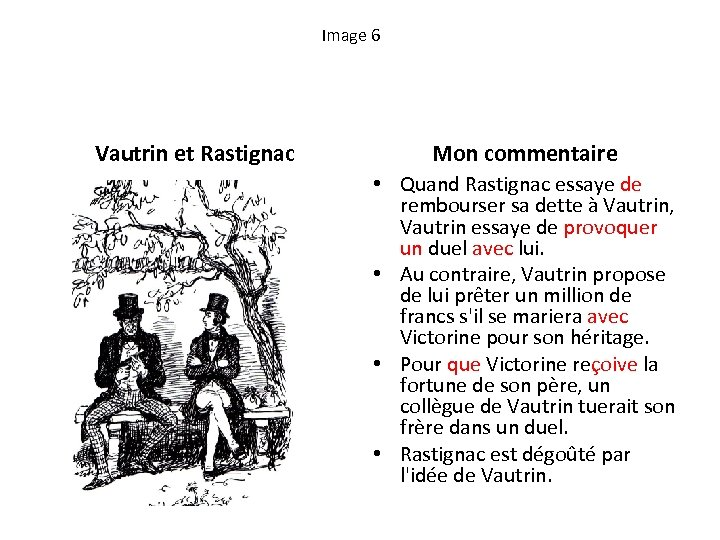 Image 6 Vautrin et Rastignac Mon commentaire • Quand Rastignac essaye de rembourser sa