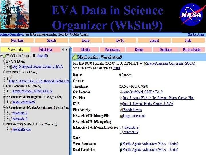 EVA Data in Science Organizer (Wk. Stn 9)