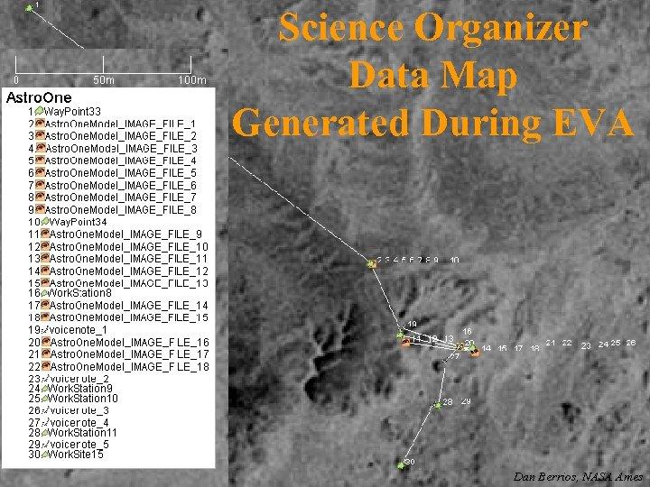 Science Organizer Data Map Generated During EVA Dan Berrios, NASA Ames
