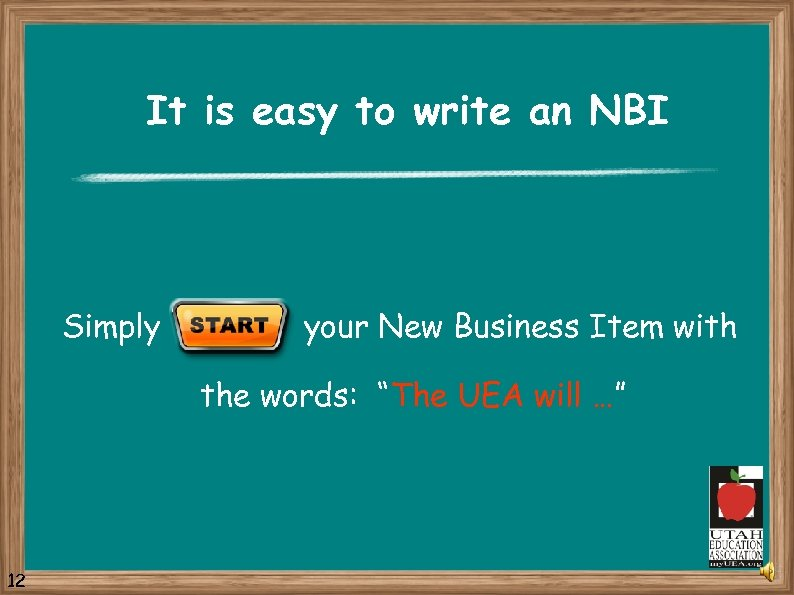 It is easy to write an NBI Simply your New Business Item with the