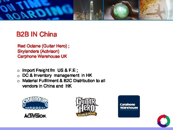 B 2 B IN China Red Octane (Guitar Hero) ; Skylanders (Actvison) Carphone Warehouse