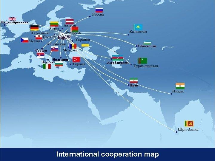 International cooperation map
