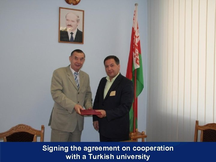 Signing the agreement on cooperation with a Turkish university