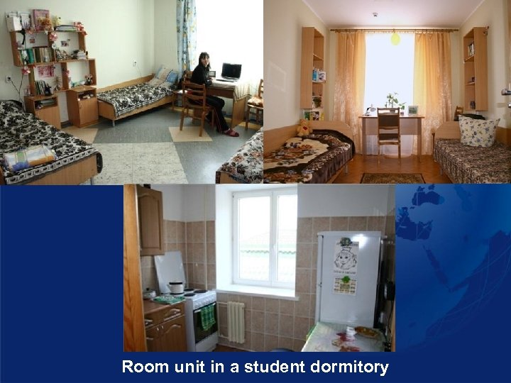 Room unit in a student dormitory