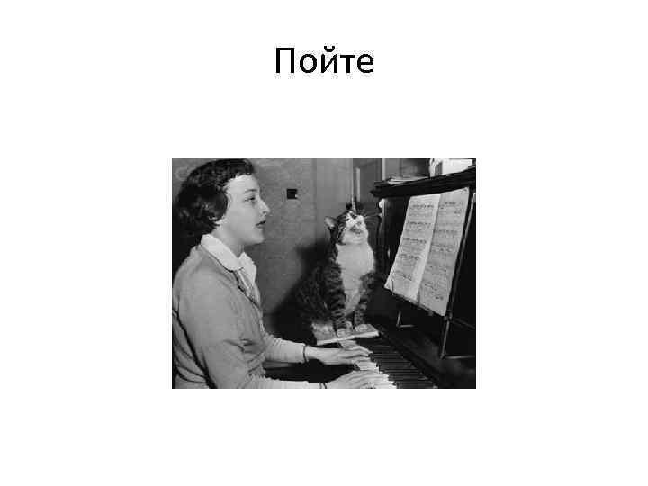 Пойте