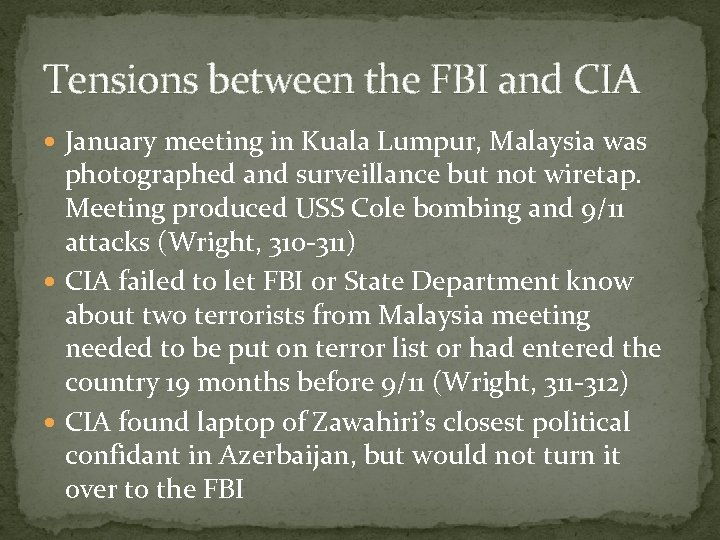 Tensions between the FBI and CIA January meeting in Kuala Lumpur, Malaysia was photographed