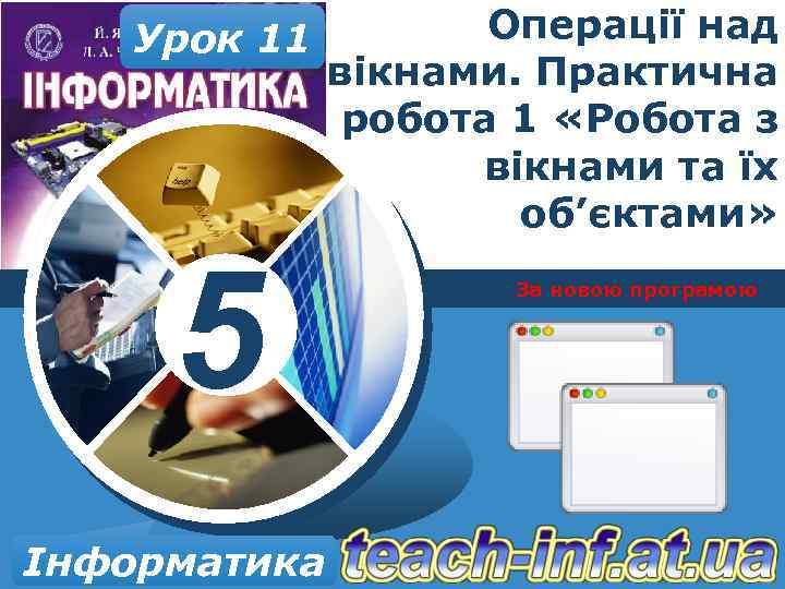 Урок 11 5 Інформатика Операції над вікнами. Практична робота 1 «Робота з вікнами та