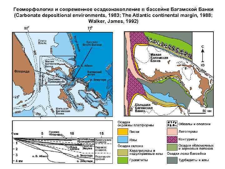 Геоморфология и современное осадконакопление в бассейне Багамской Банки (Carbonate depositional environments, 1983; The Atlantic