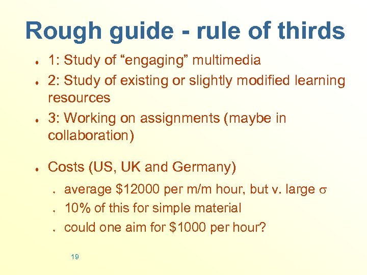 "Rough guide - rule of thirds ¨ ¨ 1: Study of ""engaging"" multimedia 2:"
