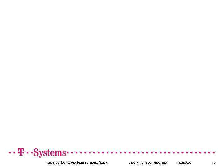 – strictly confidential / internal / public – Autor / Thema der Präsentation 11/23/2009