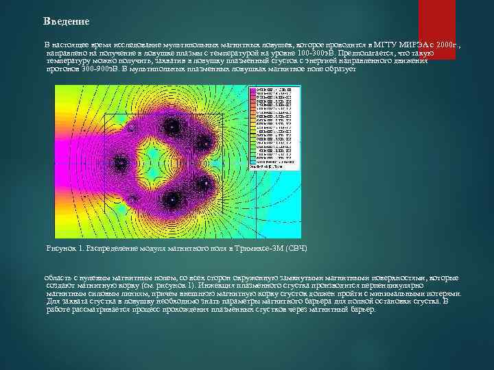 Введение В настоящее время исследование мультипольных магнитных ловушек, которое проводится в МГТУ МИРЭА с