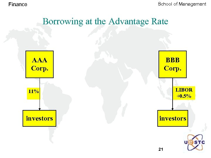 School of Management Finance Borrowing at the Advantage Rate AAA Corp. BBB Corp. LIBOR