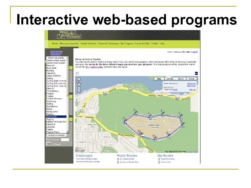 Interactive web-based programs