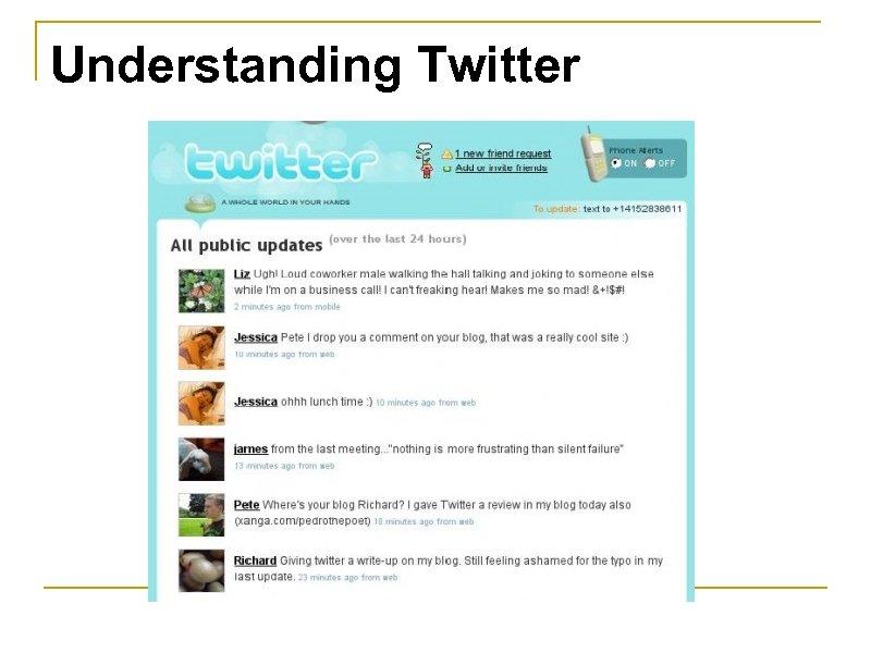 Understanding Twitter