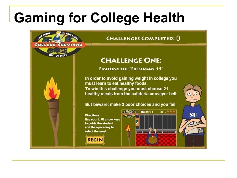 Gaming for College Health