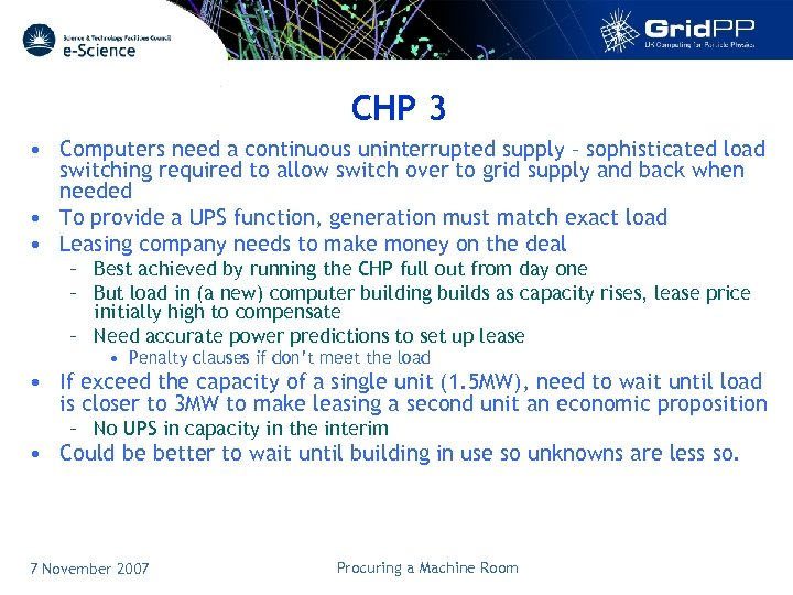 CHP 3 • Computers need a continuous uninterrupted supply – sophisticated load switching required