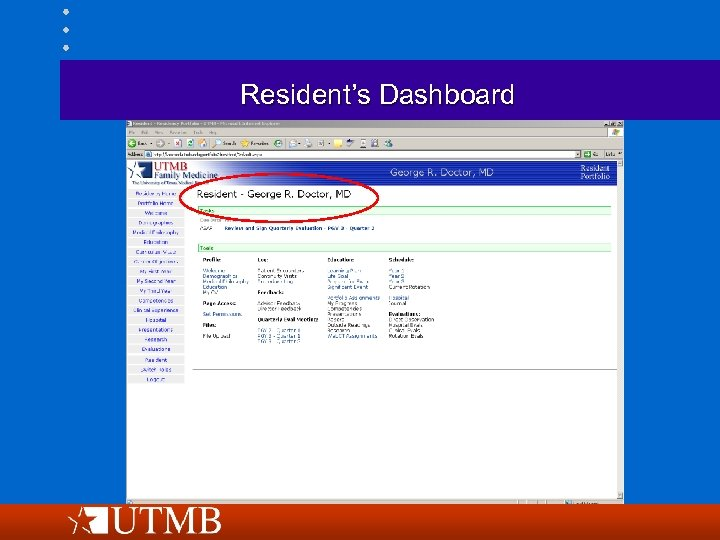 Resident's Dashboard