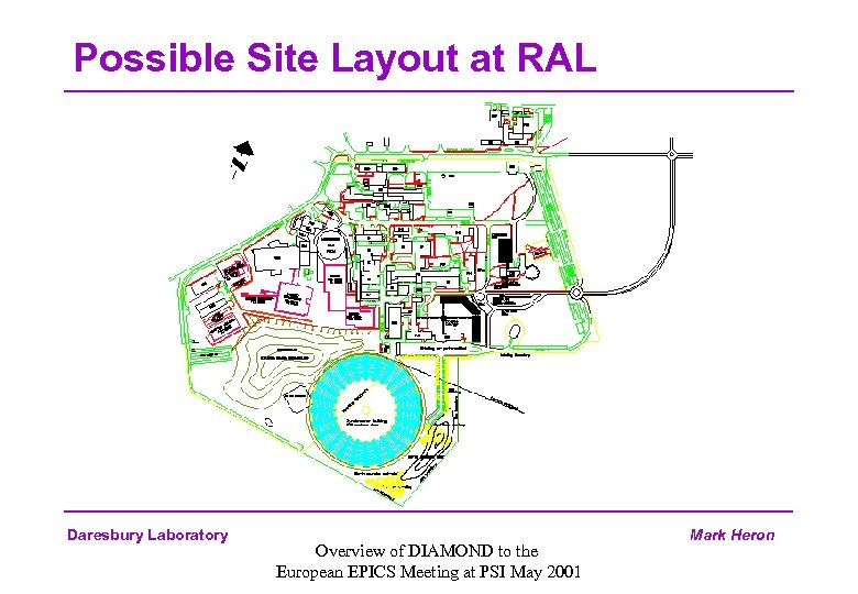 Possible Site Layout at RAL Daresbury Laboratory Overview of DIAMOND to the European EPICS