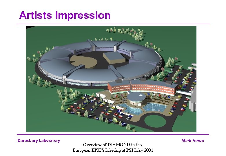 Artists Impression Daresbury Laboratory Overview of DIAMOND to the European EPICS Meeting at PSI