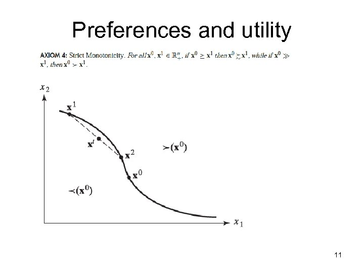 Preferences and utility 11