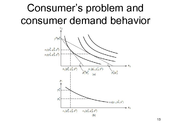 Consumer's problem and consumer demand behavior 15