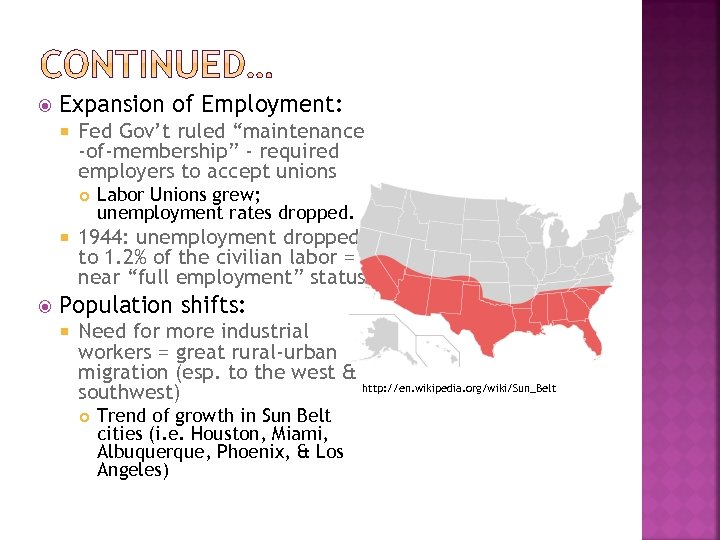 """Expansion of Employment: Fed Gov't ruled """"maintenance -of-membership"""" - required employers to accept"""