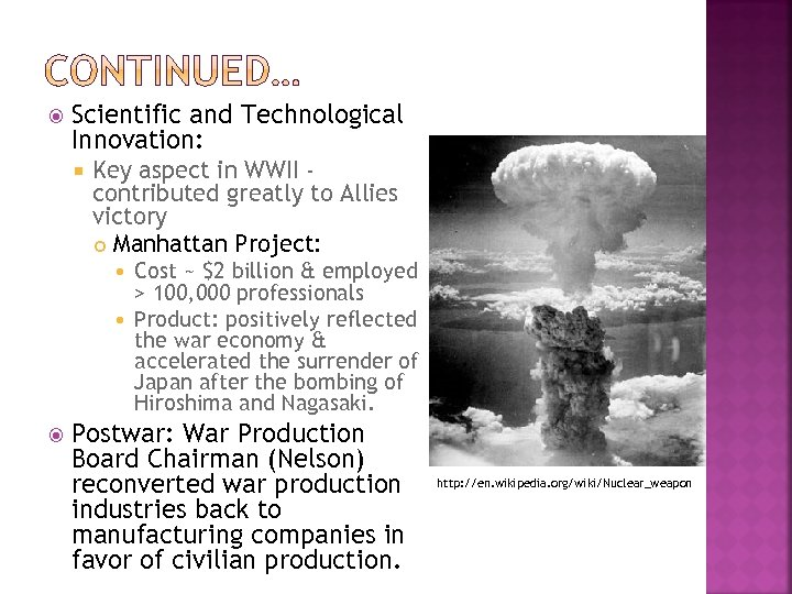 Scientific and Technological Innovation: Key aspect in WWII contributed greatly to Allies victory