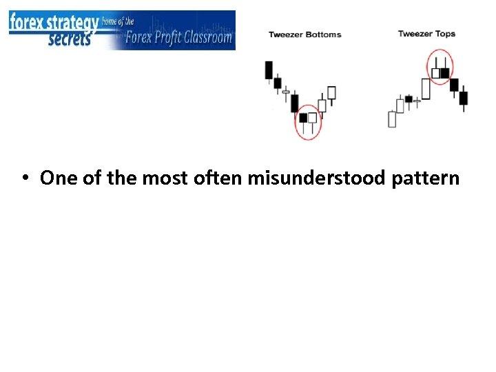• One of the most often misunderstood pattern