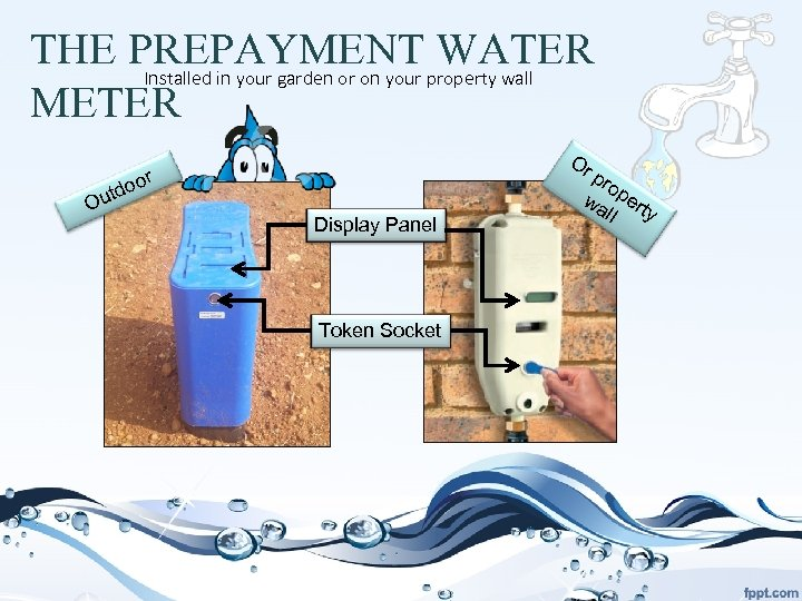 THE PREPAYMENT property wall WATER Installed in your garden or on your METER Or