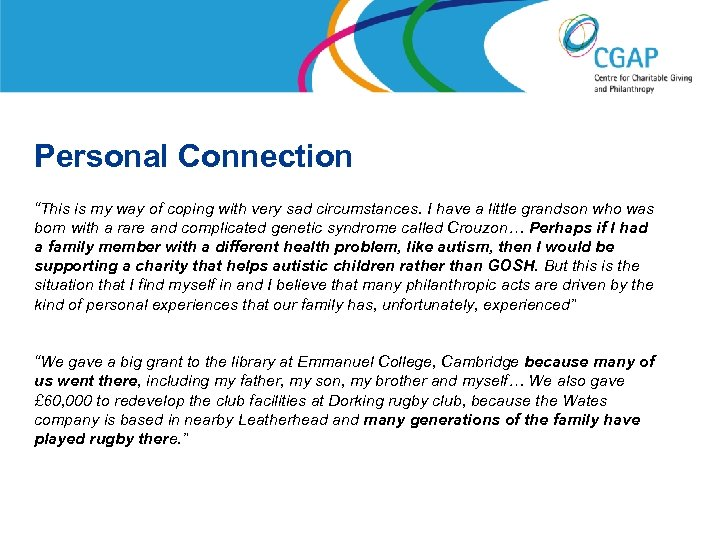 """Personal Connection """"This is my way of coping with very sad circumstances. I have"""