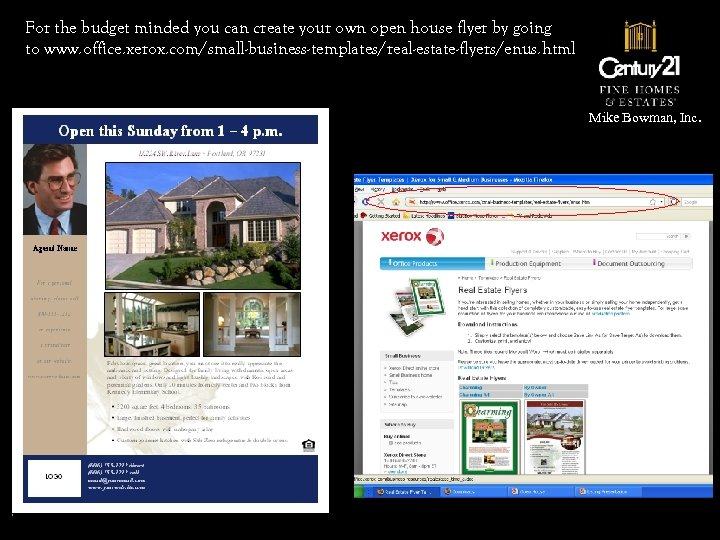 For the budget minded you can create your own open house flyer by going