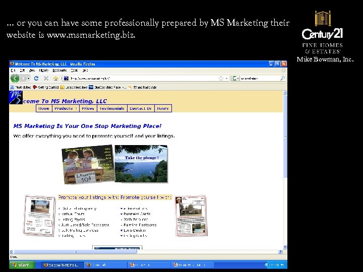 … or you can have some professionally prepared by MS Marketing their website is