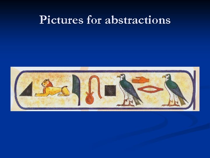 Pictures for abstractions
