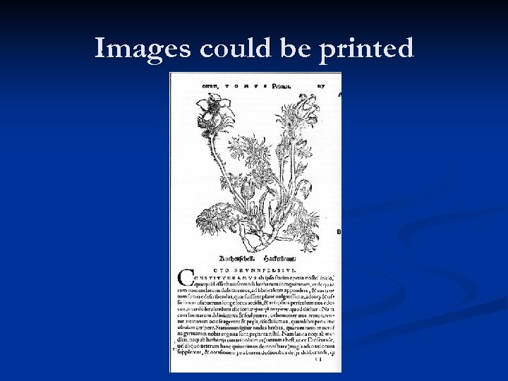Images could be printed