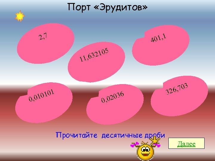 Порт «Эрудитов» 2, 7 1 401, 2105 , 63 11 0101 0, 01 2036
