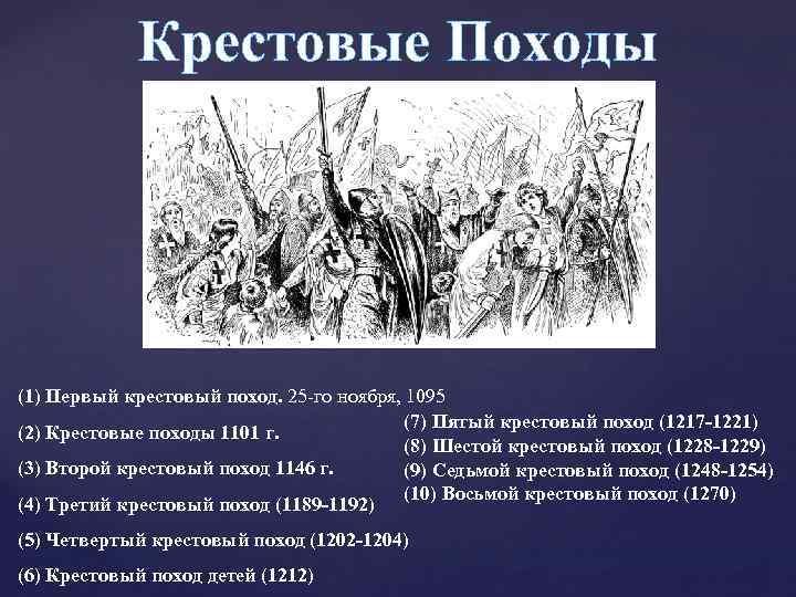 Крестовые Походы (1) Первый крестовый поход. 25 -го ноября, 1095 (7) Пятый крестовый поход