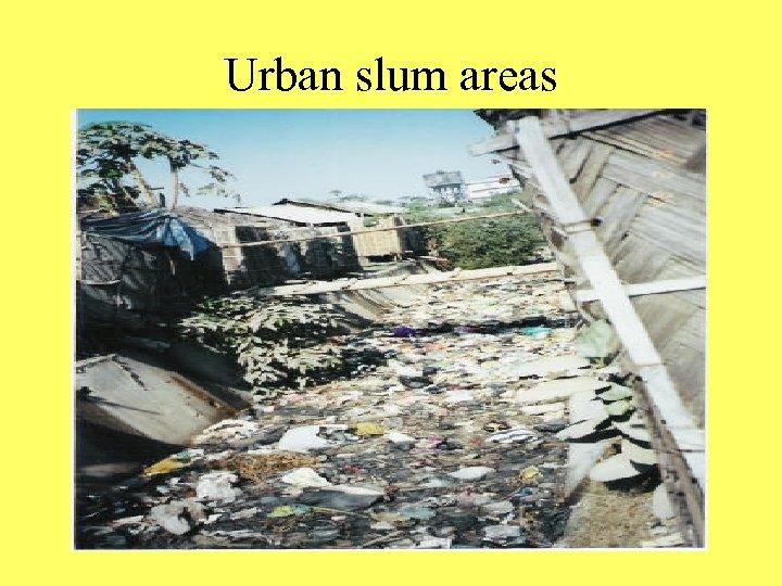 Urban slum areas