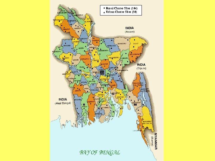 Rural Cluster Sites (104) Urban Cluster Sites (50)