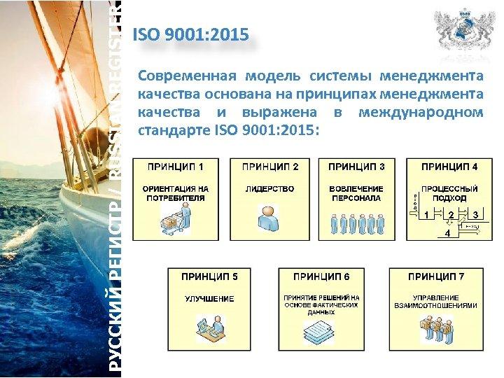 РУССКИЙ РЕГИСТР / RUSSIAN REGISTER ISO 9001: 2015 Современная модель системы менеджмента качества основана