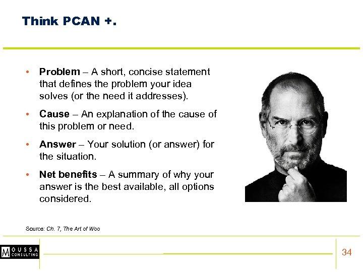 Think PCAN +. • Problem – A short, concise statement that defines the problem