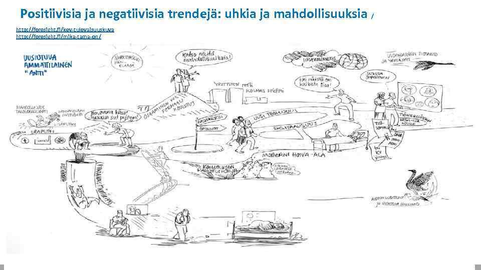 Positiivisia ja negatiivisia trendejä: uhkia ja mahdollisuuksia / http: //foresight. fi/kev-tulevaisuuskuva http: //foresight. fi/mika-tama-on/