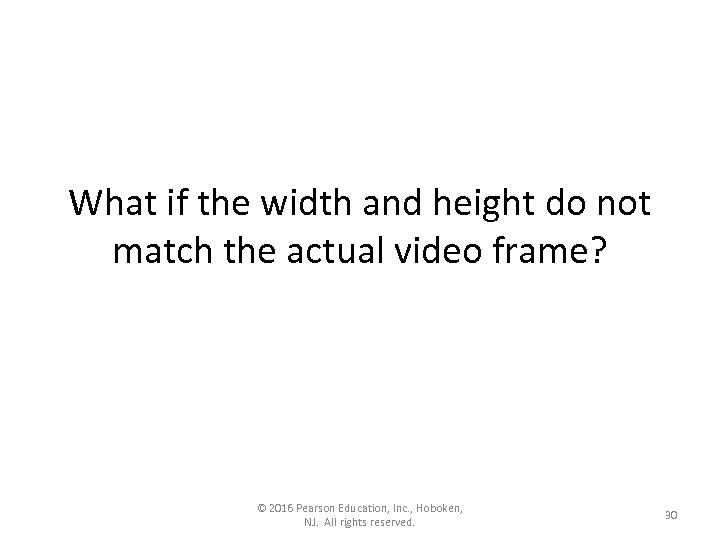 What if the width and height do not match the actual video frame? ©