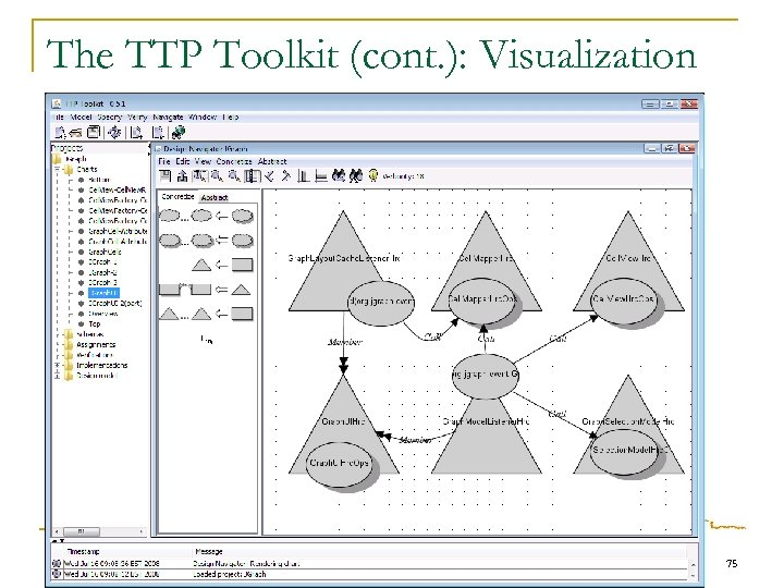 The TTP Toolkit (cont. ): Visualization 75