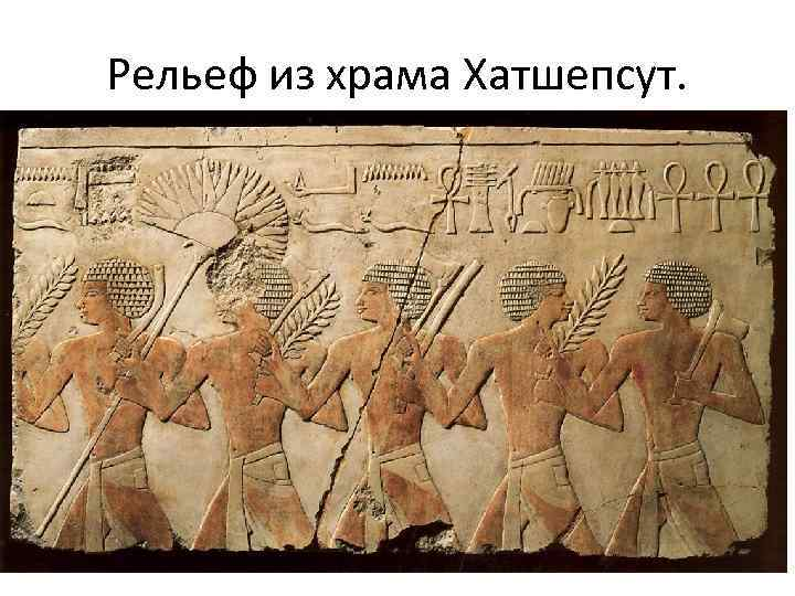 Рельеф из храма Хатшепсут.